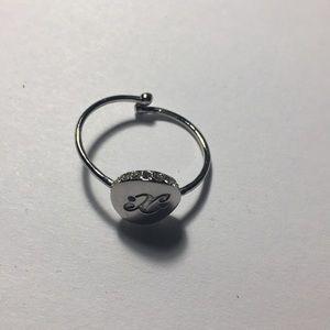 Kate Spade initial ring(adjustable ring)